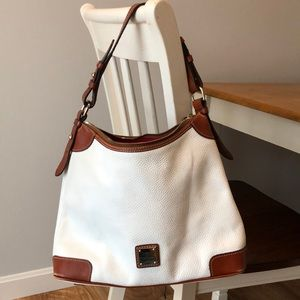 Dooney & Bourke white shoulder bag purse